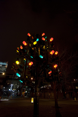 Traffic Light Tree L Arbre Aux Feux Tricolores De Pierre