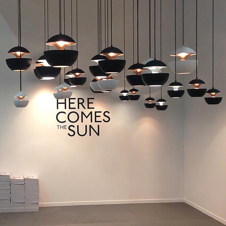 SUSPENSION, HERE COMES THE SUN 450, NOIR, CUIVRE, ROSE, Ø45CM, P45CM - DCW EDITIONS