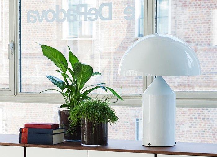 Atollo Magistretti lampe blanche 2