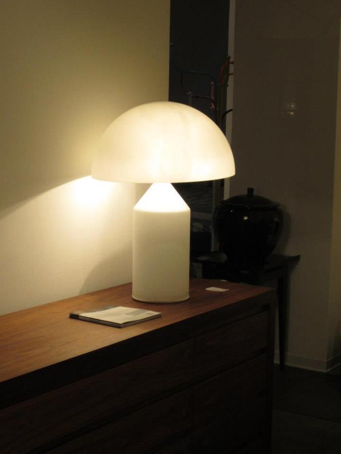 Atollo Magistretti lampe blanche