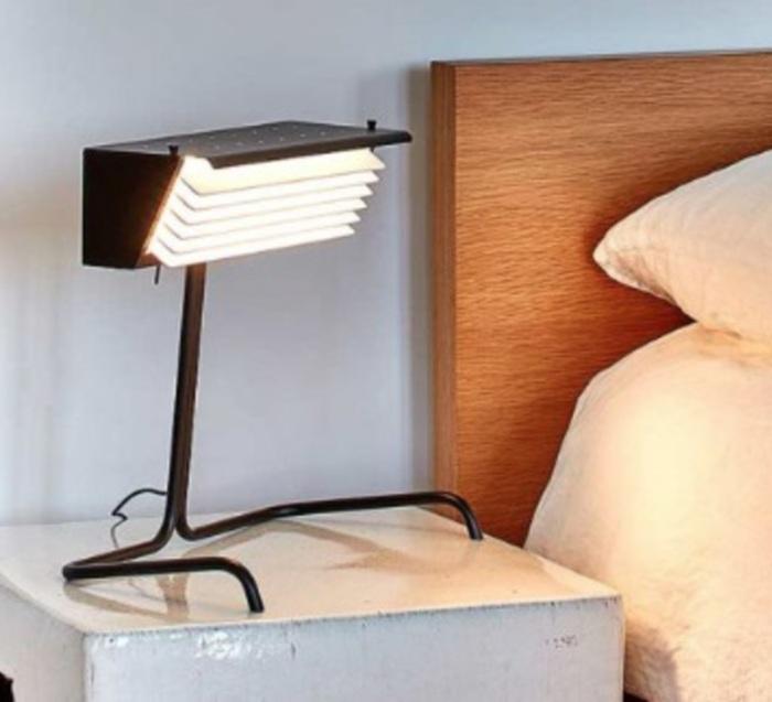 LAMPE À POSER, BINY TABLE, NOIR ET BLANC, LED, 2700K, L32,5CM, H32,5CM - DCW EDITIONS