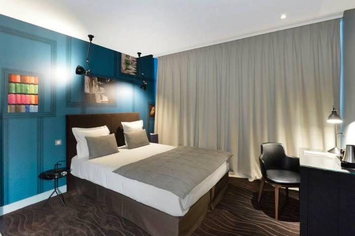 hotel emeraude Paris Nedgis chambre bleu