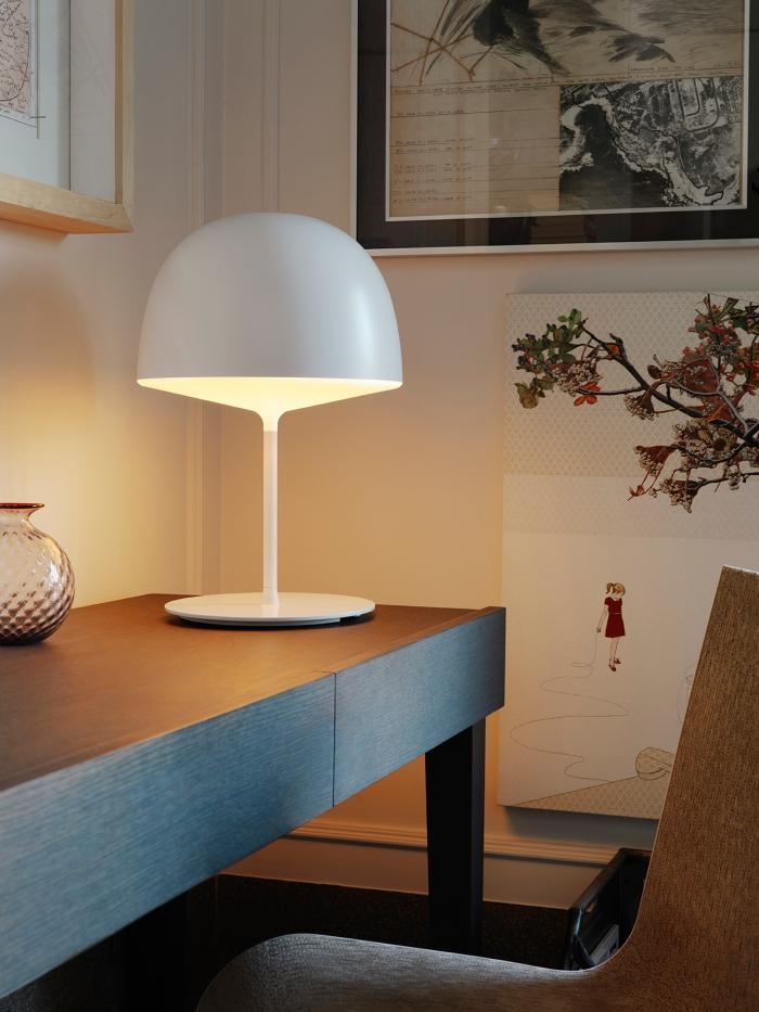 Lampe de bureau Desk lamp Fontana arte Cheshire white blanc