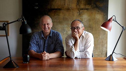 Philippe Cazer et Frederic Winkler portrait DCW Lampe Gras