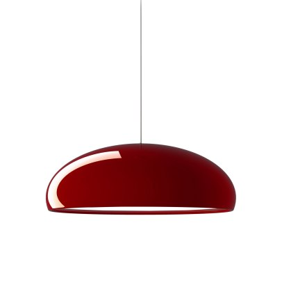fontanaarte_suspension metal rouge design luminaire