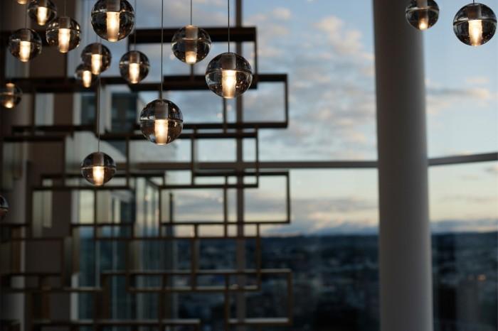 Lampe Bocci design canada verre
