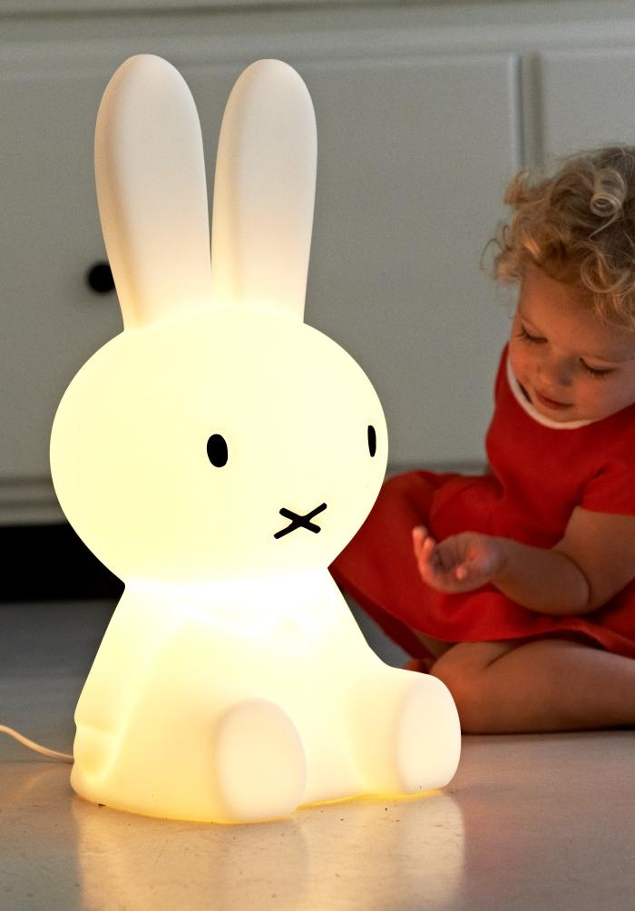nijntje klein Mr maria, lampe enfant lapin lumineux