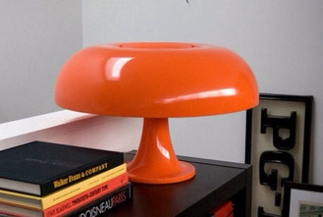 lampe champignon orange artemide nessino design bureau