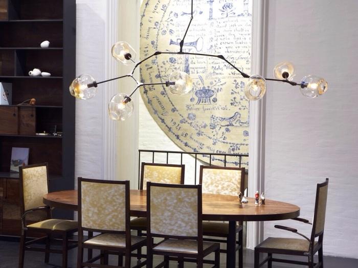 lindey adelman lustre design verre souffle jeune createur luminaire salle a manger