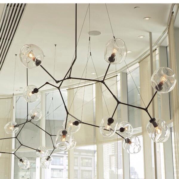 lustre design lindsey adelman luminaire salle a manger hall