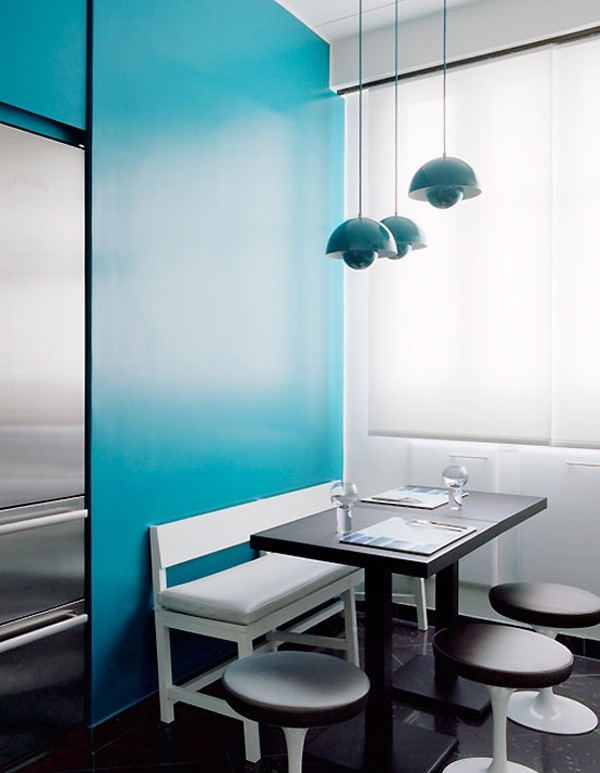 Suspension Flower pot Verner Panton bleu turquoise