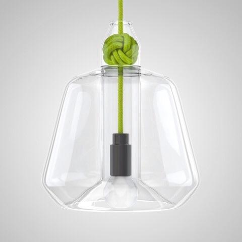 suspension en verre vert vitamin design anglais pepsi