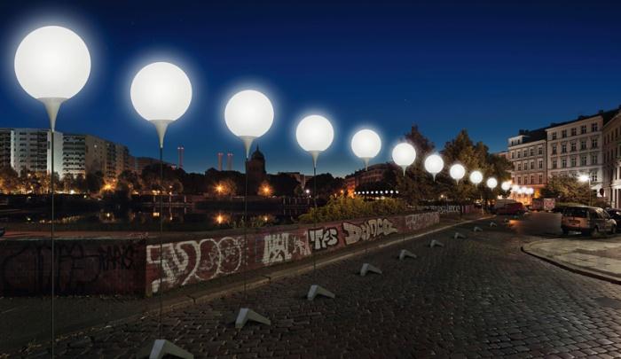 8000 ballons lumineux pour celebrer les 25 ans de la chute du mur de berlin nedgis