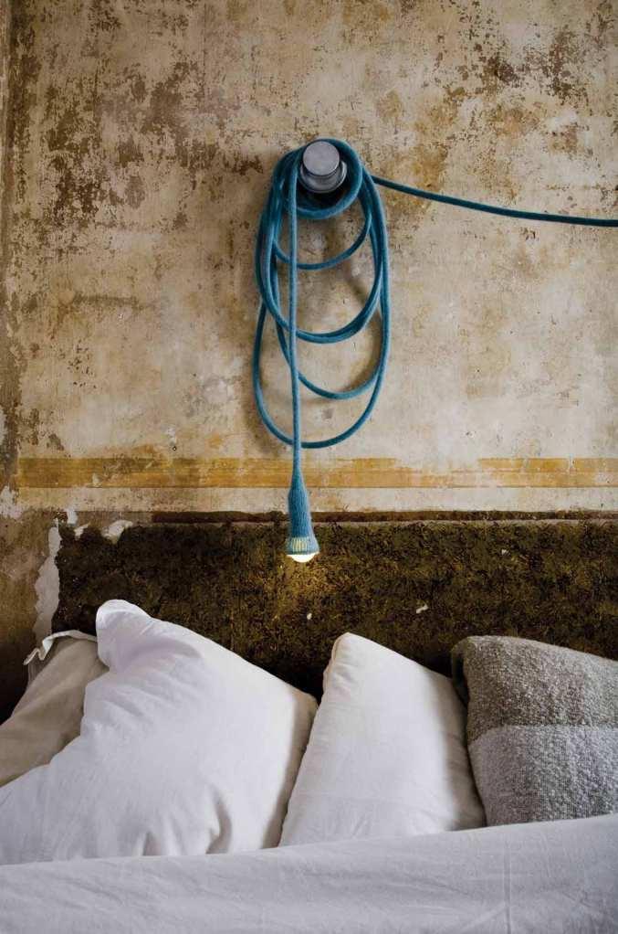 LLOT LOV LAMPE BALADEUSE SUSPENSION LAINE MATT BLEU GRIS CHAMBRE - Copie