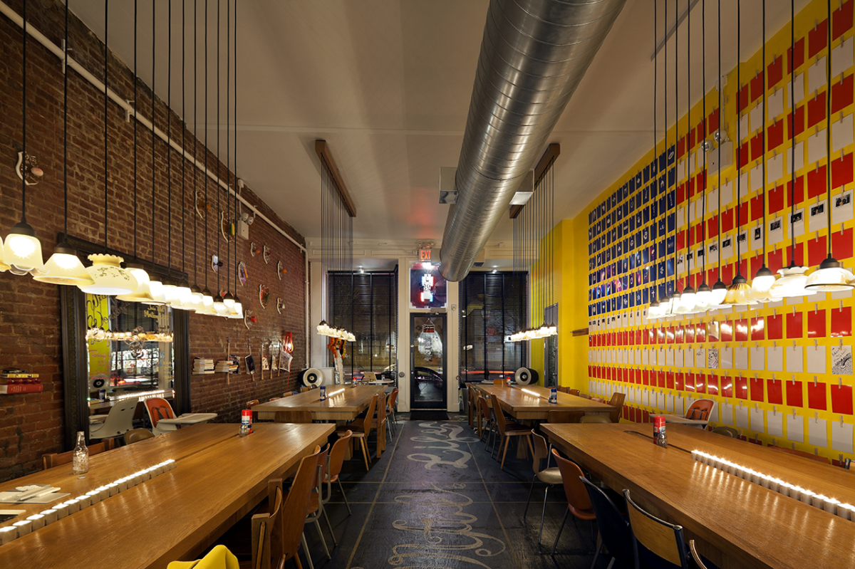 Ambiance loft pour ce restaurant v g tarien de brooklyn for Interieur loft new york