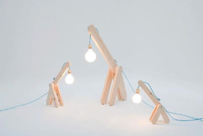 lampe_a_poser_design girafe bois