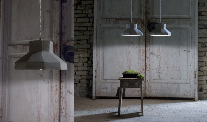 lustre gongolo karman lighting gris beton
