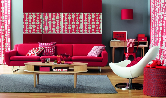 RED INTERIOR DESIGN INTERIEUR CONTEMPORAIN ROUGE