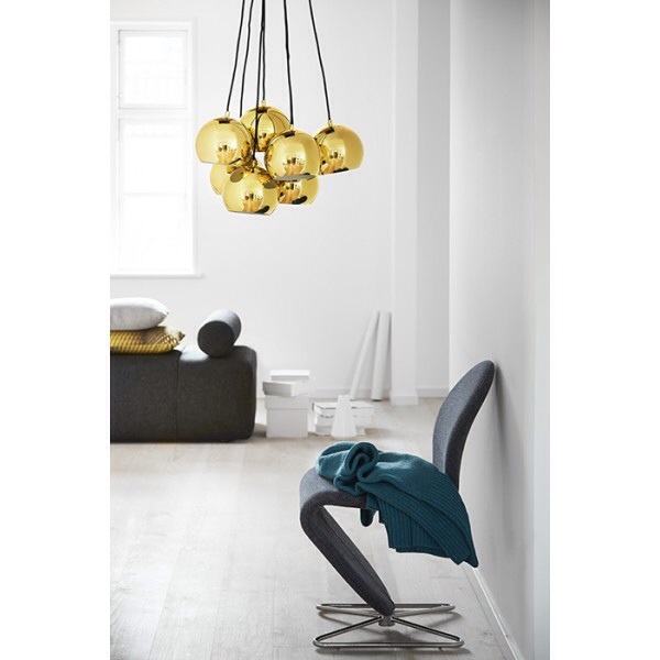 frandsen lighting - suspension balls - or - grappe de lumiere design danois . lustre design