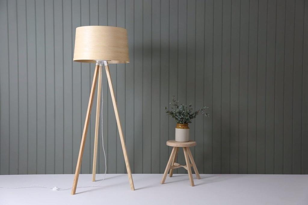 Tom raffield, eco design, luminaire bois fait main, lampadaire design