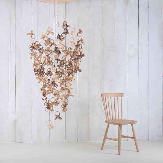 Tom raffield, designer anglais, luminaire ecolo, bois, lustre design