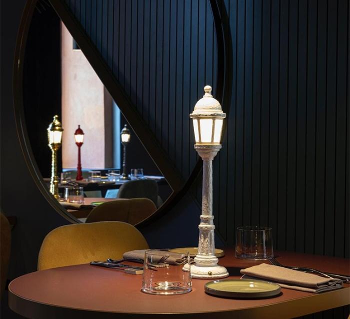 BALADEUSE, STREET LAMP DINING, BLANC, LED, 3000K, 55LM, Ø9,8CM, H42CM - SELETTI