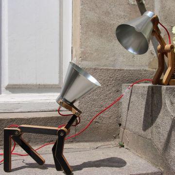 Lampe à poser design, décalée, fun, en forme de chien - Waaf de Structures