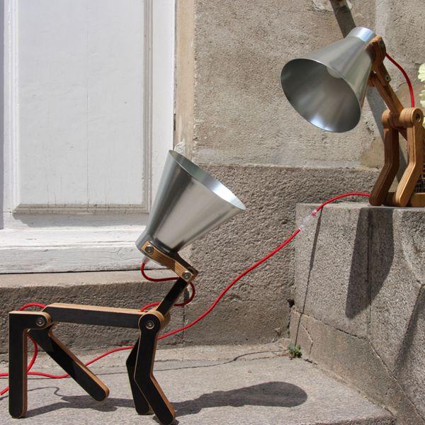 Lampe à poser, Waaf, noir, aluminium, H45cm - Structures