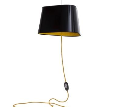 Suspension nomade, Grand nuage, Noir, jaune - DesignHeure - Hervé Langlais - Nedgis