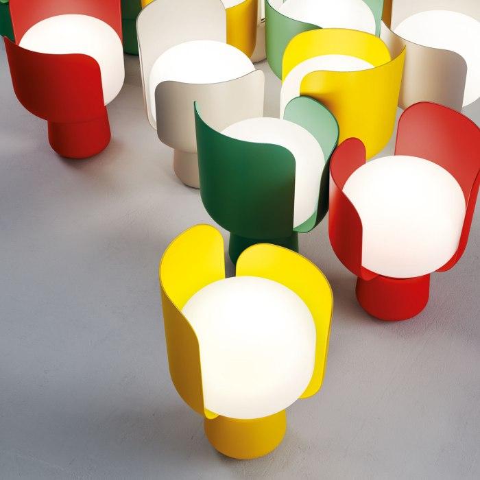 FontanaArte_Blom_Andreas-Engesvik_ LAMPE A POSER DESIGN ROUGE JAUNE VERT BLANC - Copie - Copie