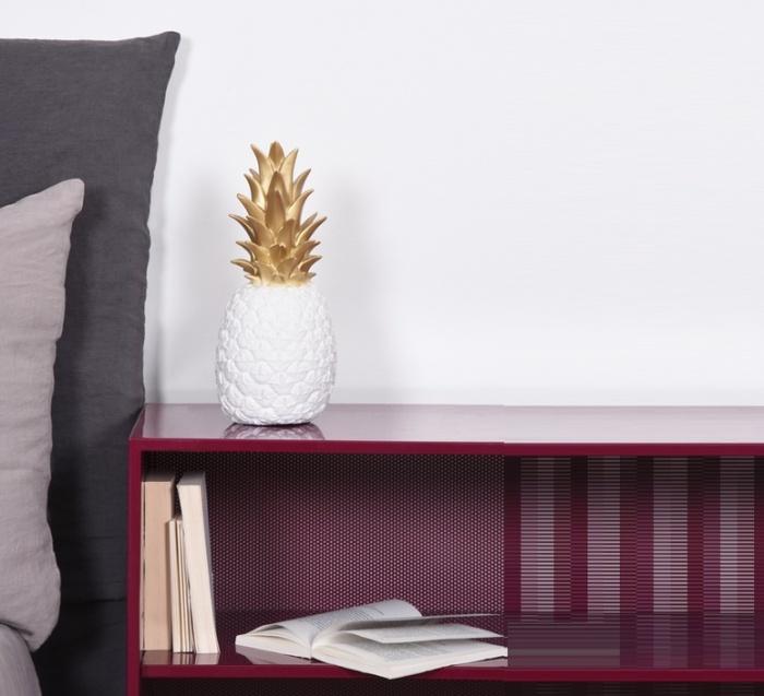 Lampe Ananas, Pina Colada, or & blanc, H32cm - Goodnight Light