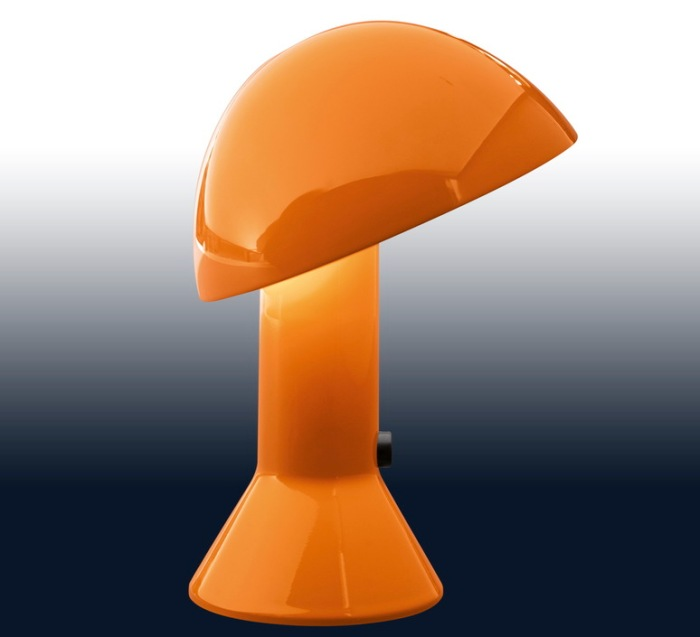 Lampe de chevet design Elmetto, orange - Martinelli Luce