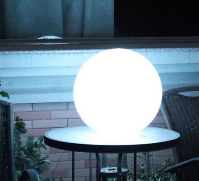 LAMPE DE JARDIN, GLOBO, BLANC, MAT, Ø50CM - SLIDE