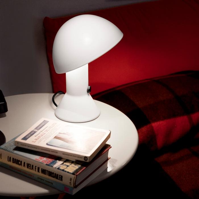 Lampe de chevet design, Elmetto, blanc - Martinelli Luce