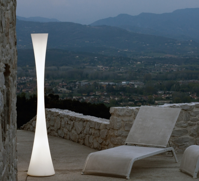 Lampadaire, BICONICA POL, blanc, H195cm - Martinelli-luce