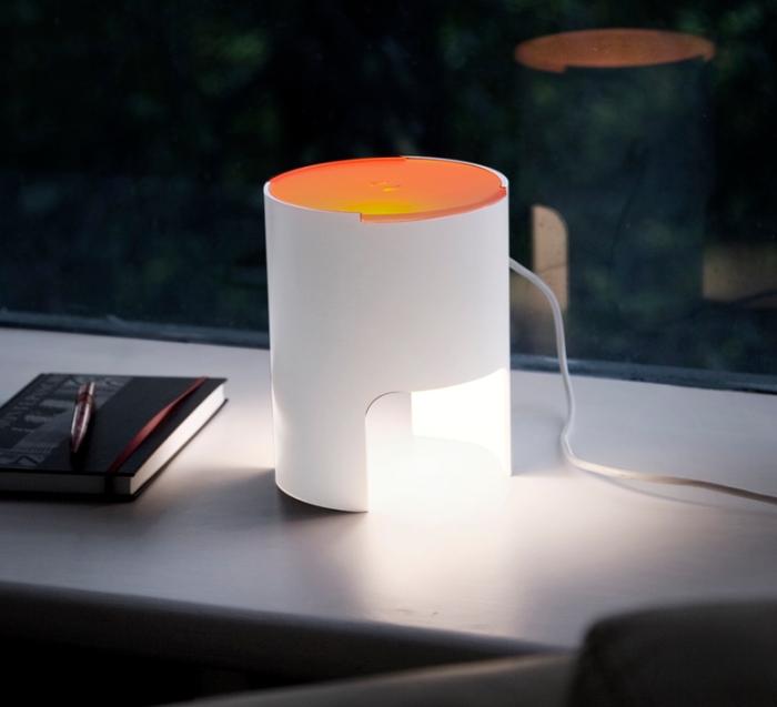 Lampe à poser, CIVETTA, orange, H20cm - Martinelli-luce