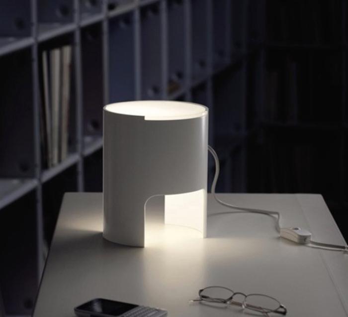 Lampe à poser, CIVETTA, blanc, H20cm - Martinelli-luce