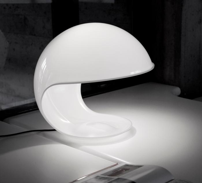 Lampe à poser, FOGLIA, blanc, Ø45cm - Martinelli-luce