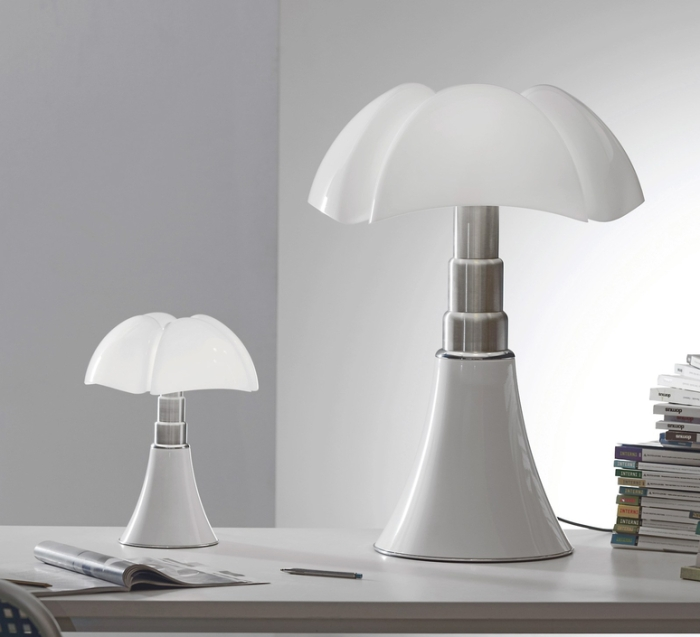 Lampe à poser, PIPISTRELLO, blanc, H86cm - Martinelli-luce