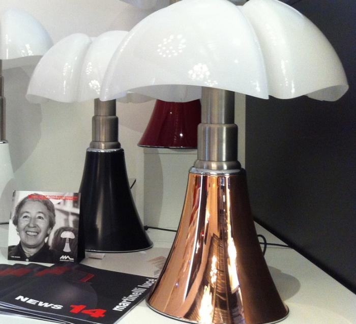 Lampe à poser, PIPISTRELLO, LED, cuivre, H86cm - Martinelli-luce