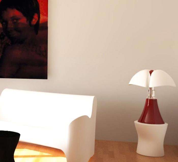 Lampe à poser, PIPISTRELLO, LED, rouge, H86cm - Martinelli-luce