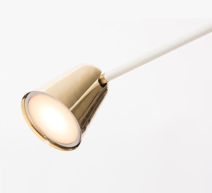 Lampe de bureau Chaplin, laiton, Formagenda