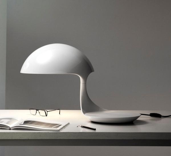 Lampe blanche Cobra, Martinelli Luce