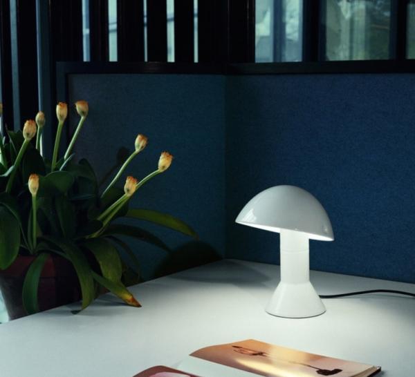 Lampe de bureau blanche Elmetto, Martinelli Luce
