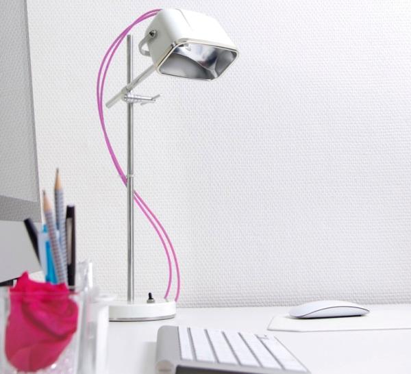 Lampe blanc et rose Mob, Swabdesign