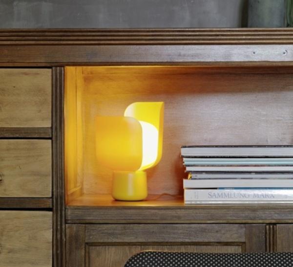 Lampe de bureau jaune, Blom, FontanaArte