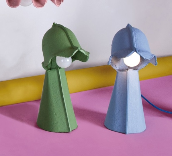 Lampe à poser vert Egg of Columbus, Seletti