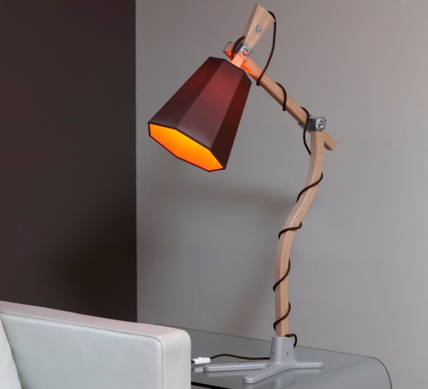 Lampe orange et marron Luxiole, DesignHeure