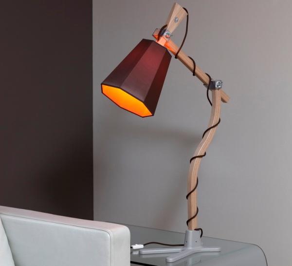 Lampe orange et marron Luxiole, DesignHeure