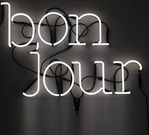 Lampe typographe Néon Art Bonjour de Seletti